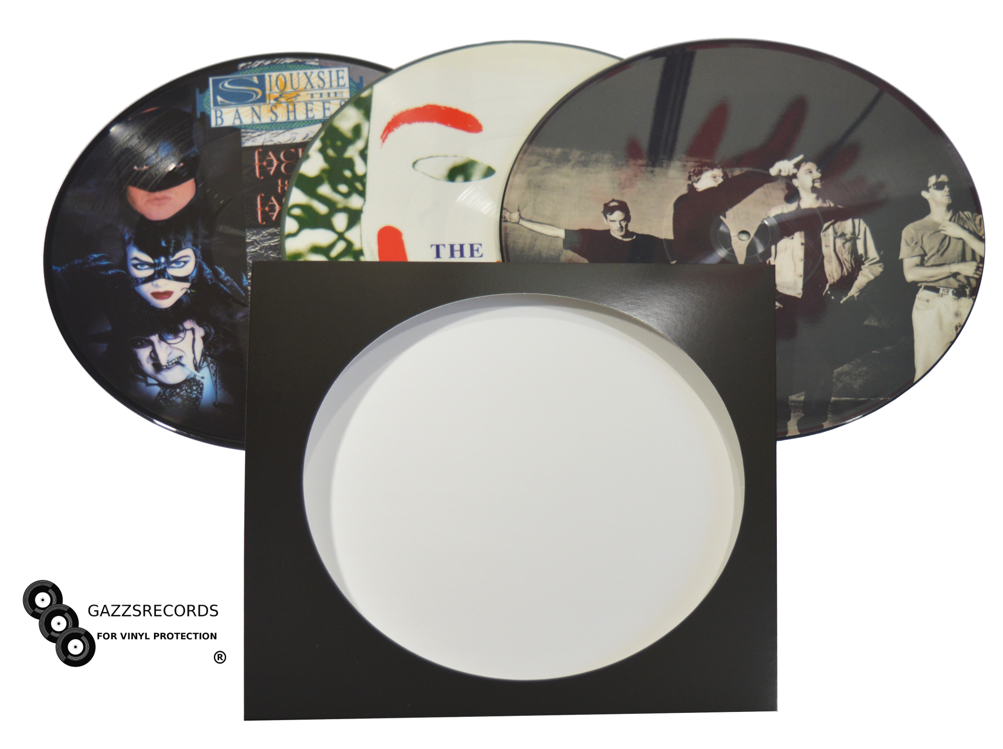 """12"""" CARDBOARD PICTURE DISC RECORD SLEEVES"""