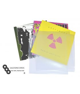 "Pack of 100 12"" inch Vinyl Album LP Acid Free Polythene 450 Gauge Record Sleeves"