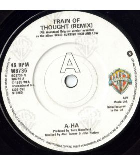 "A-HA Train of Thought Remix 7"" Vinyl Single 45 Record"