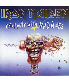 "Iron Maiden ‎Can I Play With Madness 7"" Vinyl Single 45 rpm Record"