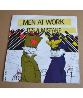 """Men At Work It's A Mistake 7"""" Vinyl Single Import Record 45"""