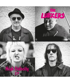 """The Lurkers High Velocity 7"""" EP Limited Edition of 500 Copies Pink Vinyl"""